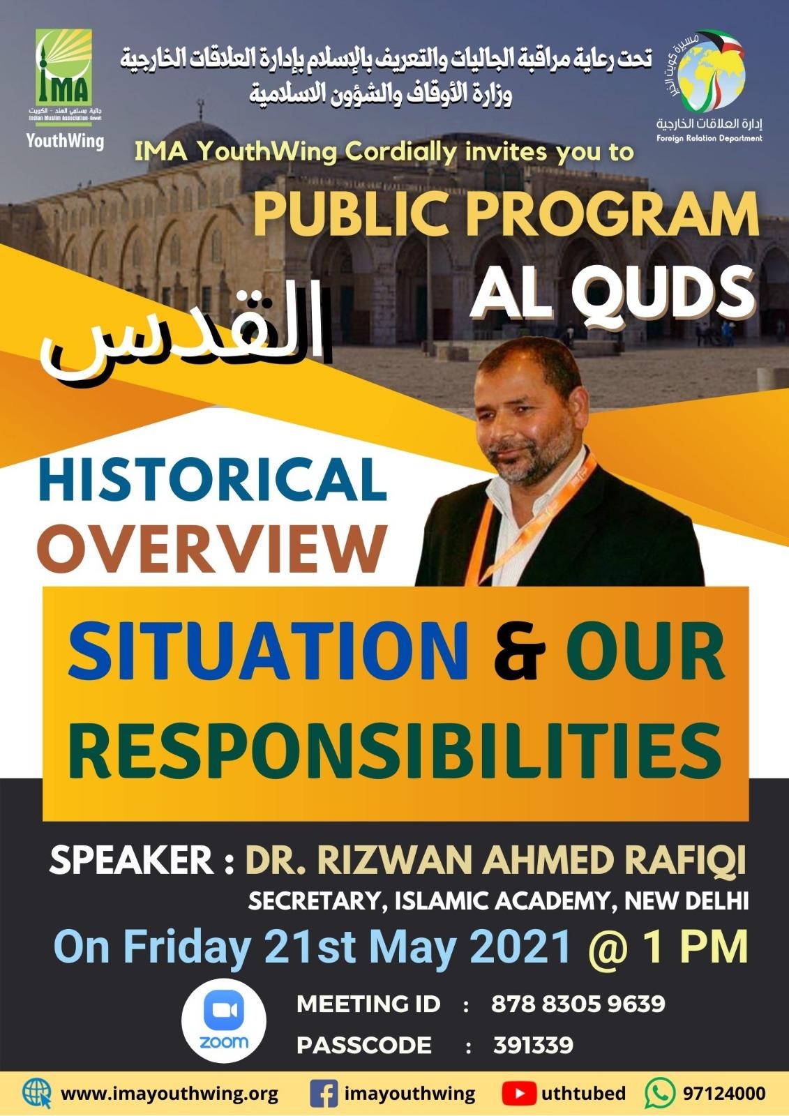 Public Program AL QUDS – HISTORY OVERVIEW, SITUATION & OUR RESPONSIBILITIES